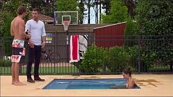 Tyler Brennan, Mark Brennan, Paige Novak in Neighbours Episode 7122