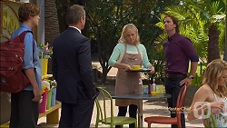 Clem Hanley, Ezra Hanley, Lauren Turner, Brad Willis in Neighbours Episode 7124