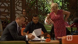 Ezra Hanley, Nate Kinski, Sheila Canning in Neighbours Episode 7124