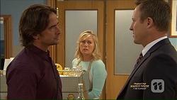 Brad Willis, Lauren Turner, Ezra Hanley in Neighbours Episode 7125