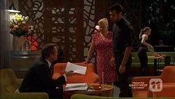 Ezra Hanley, Sheila Canning, Nate Kinski in Neighbours Episode 7125