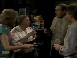 Madge Bishop, Rob Lewis, Ivan, Jeremy Lord in Neighbours Episode 0482