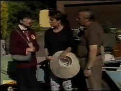 Nell Mangel, Gail Robinson, Rob Lewis in Neighbours Episode 0483