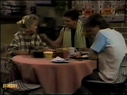 Daphne Clarke, Des Clarke, Mike Young in Neighbours Episode 0483