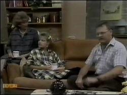 Madge Mitchell, Daphne Clarke, Harold Bishop in Neighbours Episode 0484