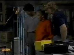 Warren Murphy, Sue Parker, Henry Mitchell in Neighbours Episode 0484