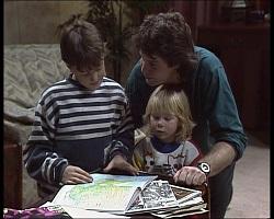 Toby Mangel, Joe Mangel, Sky Bishop in Neighbours Episode 1520