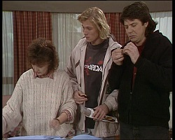 Pam Willis, Brad Willis, Joe Mangel in Neighbours Episode 1521