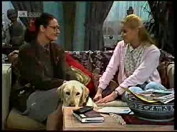Dorothy Burke, Bouncer, Phoebe Bright in Neighbours Episode 1720