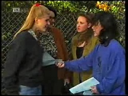 Phoebe Bright, Dorothy Burke, Protesters in Neighbours Episode 1720