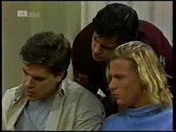 Cameron Hudson, Rick Alessi, Brad Willis in Neighbours Episode 1720