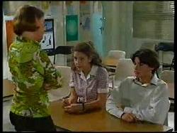 Denise Hicks, Hannah Martin, Paul McClain in Neighbours Episode 3041