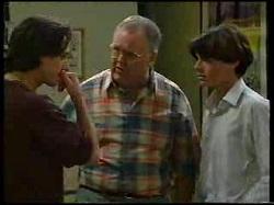 Darren Stark, Harold Bishop, Paul McClain in Neighbours Episode 3041