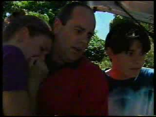 Hannah Martin, Philip Martin, Paul McClain in Neighbours Episode 3053