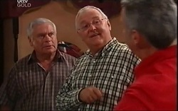 Lou Carpenter, Harold Bishop, Gino Esposito in Neighbours Episode 4664