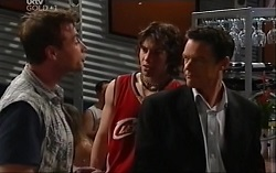 Reuben Hausman (Roo), Dylan Timmins, Paul Robinson in Neighbours Episode 4701