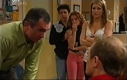 Karl Kennedy, Stingray Timmins, Serena Bishop, Izzy Hoyland, Max Hoyland in Neighbours Episode 4702