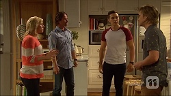 Lauren Turner, Brad Willis, Josh Willis, Daniel Robinson in Neighbours Episode 7128