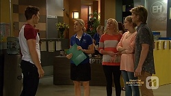 Josh Willis, Georgia Brooks, Lauren Turner, Amber Turner, Daniel Robinson in Neighbours Episode 7129