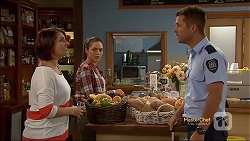 Naomi Canning, Paige Novak, Mark Brennan in Neighbours Episode 7130