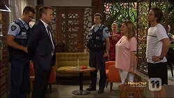 Mark Brennan, Ezra Hanley, Sheila Canning, Terese Willis, Brad Willis in Neighbours Episode 7130