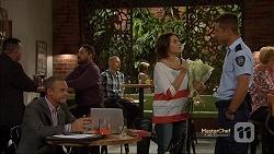 Paul Robinson, Naomi Canning, Mark Brennan in Neighbours Episode 7131
