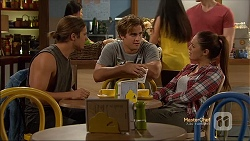 Tyler Brennan, Kyle Canning, Paige Novak in Neighbours Episode 7131