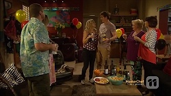 Toadie Rebecchi, Sonya Mitchell, Georgia Brooks, Kyle Canning, Sheila Canning, Naomi Canning in Neighbours Episode 7133