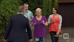 Phil Tractor, Toadie Rebecchi, Sheila Canning, Naomi Canning in Neighbours Episode 7133