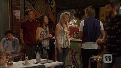 Josh Willis, Imogen Willis, Amber Turner, Daniel Robinson in Neighbours Episode 7136