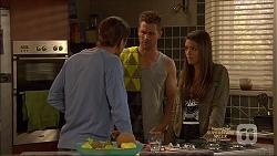 Tyler Brennan, Mark Brennan, Paige Novak in Neighbours Episode 7136