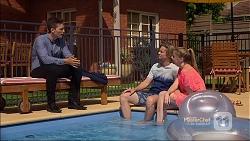 Josh Willis, Daniel Robinson, Amber Turner in Neighbours Episode 7140