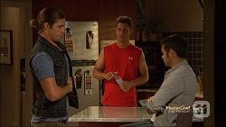 Tyler Brennan, Mark Brennan, Nate Kinski in Neighbours Episode 7143