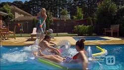 Lauren Turner, Brad Willis, Paige Novak in Neighbours Episode 7143