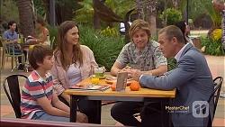 Jimmy Williams, Amy Williams, Daniel Robinson, Paul Robinson in Neighbours Episode 7143
