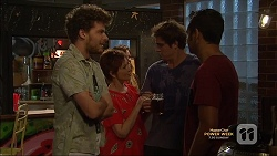 Brett Holden, Susan Kennedy, Kyle Canning, Nate Kinski in Neighbours Episode 7145