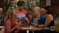 Sharon Canning, Kyle Canning, Sheila Canning, Naomi Canning in Neighbours Episode 7147
