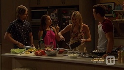 Daniel Robinson, Imogen Willis, Amber Turner, Josh Willis in Neighbours Episode 7148