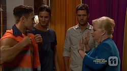 Aaron Brennan, Tyler Brennan, Mark Brennan, Sheila Canning in Neighbours Episode 7148