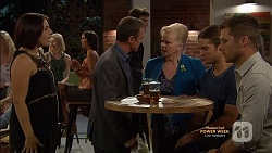 Naomi Canning, Paul Robinson, Sheila Canning, Tyler Brennan, Mark Brennan in Neighbours Episode 7148
