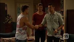 Aaron Brennan, Tyler Brennan, Nate Kinski in Neighbours Episode 7149