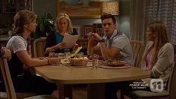 Daniel Robinson, Lauren Turner, Josh Willis, Amber Turner in Neighbours Episode 7149