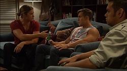Tyler Brennan, Aaron Brennan, Nate Kinski in Neighbours Episode 7149