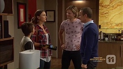 Jimmy Williams, Amy Williams, Daniel Robinson, Paul Robinson in Neighbours Episode 7150