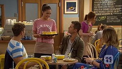 Aaron Brennan, Paige Novak, Mark Brennan, Sonya Mitchell in Neighbours Episode 7152