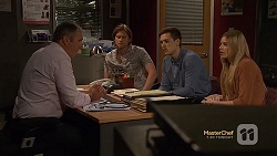 Karl Kennedy, Daniel Robinson, Josh Willis, Amber Turner in Neighbours Episode 7152