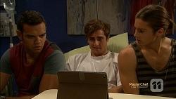 Nate Kinski, Kyle Canning, Tyler Brennan in Neighbours Episode 7154
