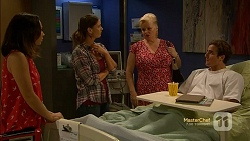 Imogen Willis, Amy Williams, Sheila Canning, Kyle Canning in Neighbours Episode 7154