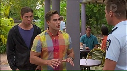 Tyler Brennan, Aaron Brennan, Mark Brennan in Neighbours Episode 7156