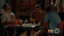 Aaron Brennan, Tyler Brennan, Nate Kinski in Neighbours Episode 7158